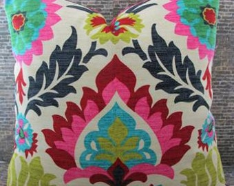 SALE Designer Pillow Cover - 14 x 20, 14 x 22, 14 x 24 - Panama Desert Flower -