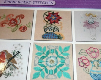 Anchor Crewelwork Embroidery Stitches Book