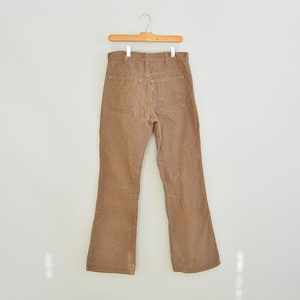 Levi's Flare Coduroys 1970's Era White Tab Retro Levi's Cords Men's Size 32/31.5 Tan Cords Talon Zipper cMTZPy3t