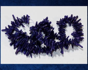"""Coral, Purple - 15"""" strand of bamboo coral cupolini shape beads. #CORL-063"""