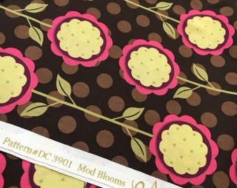 "Mod Blooms Andalucia by Patty Miller for Michael Miller fabrics. Out of print, hard to find. Remnant measures 23"" x 44""."