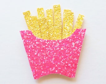 Glitter french fry hair clip OR headband