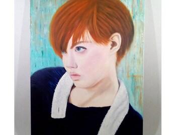 Viki Original Oil Painting , Wall Art , Modern Art , Portrait Painting , Surrealism , Photorealism , Impressionism ,