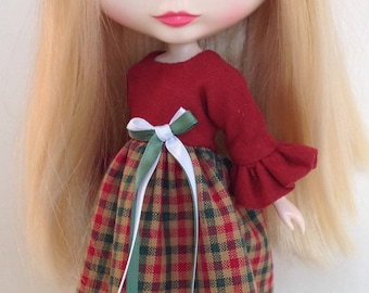 Holiday dress for Blythe doll