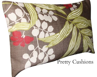 Romo Verbena Saddle Brown Bolster Cushion Cover