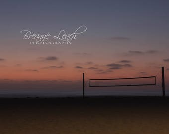 "Photography ""Volleyball at Sunset"", San Diego, Ocean Beach Pier, Wall Art, Home Decor, Southern California, Coastal Decor, Nautical Print"