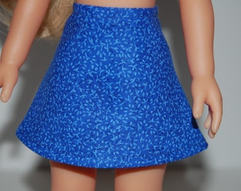 """Dark Blue A-Line Skirt Doll Clothes Corolle 13"""" Les Cheries 14"""" Hearts for Hearts Betsy McCall  tkct934"""