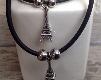Double Lovers Eiffel Tower Bracelets Charm Set Jewelry Accessory Charm Bracelets