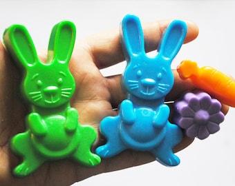3 x Crazy Rabbit soap-party favor, funny soap, gift soap, nerdy soap, geek soap