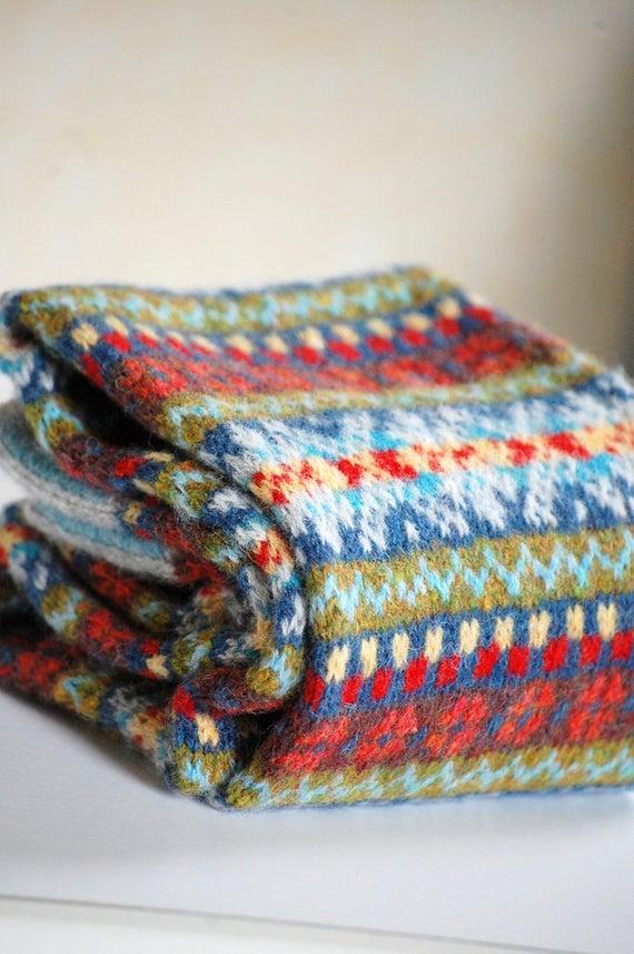 PDF Knitting Pattern Border Fair Isle Scarf