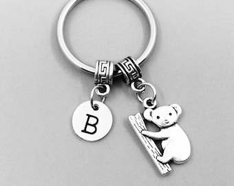Koala Keychain, Koala Keychains, Best Friend Keychains, Koala Keyring, Koala Key Rings, Custom Charm Keychains, tourist souvenir, Koala gift
