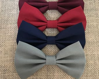 Hair Bows for women   Girl hair bows    red hair bow   Gray Hair Bow   Dark Blue Hairbbow   hair accessories for women  