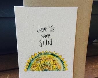 Plantable Gift Card - 'Under The Same Sun'