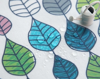 """Eco Laminated Cotton Fabric by the yard Rain series_Three type_43.3"""" wide 146041,2,5"""