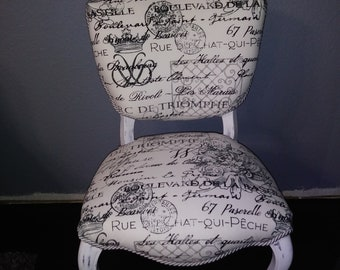 This is a vintage upcycled victorian chair