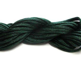 Nylon string dark green 2mm 12mm skeins