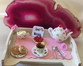 Miniature Tray for breakfast in bed