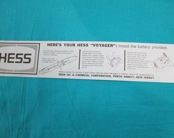 1967 Hess Voyager Repo Battery Card