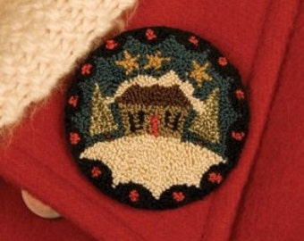 "PATTERN ""Winter Wear"" Punchneedle Embroidery Pin"
