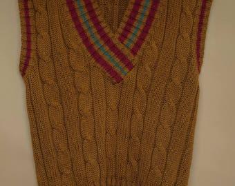 The Vinyl Cardigan, Vintage knit Sweater.