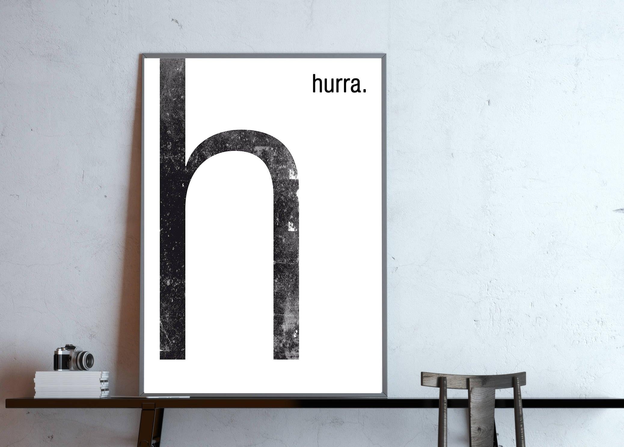 Type poster monogram H Hurray