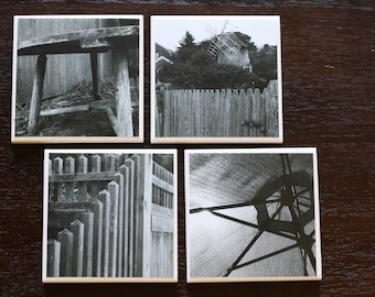 Tile Coasters- Black and White