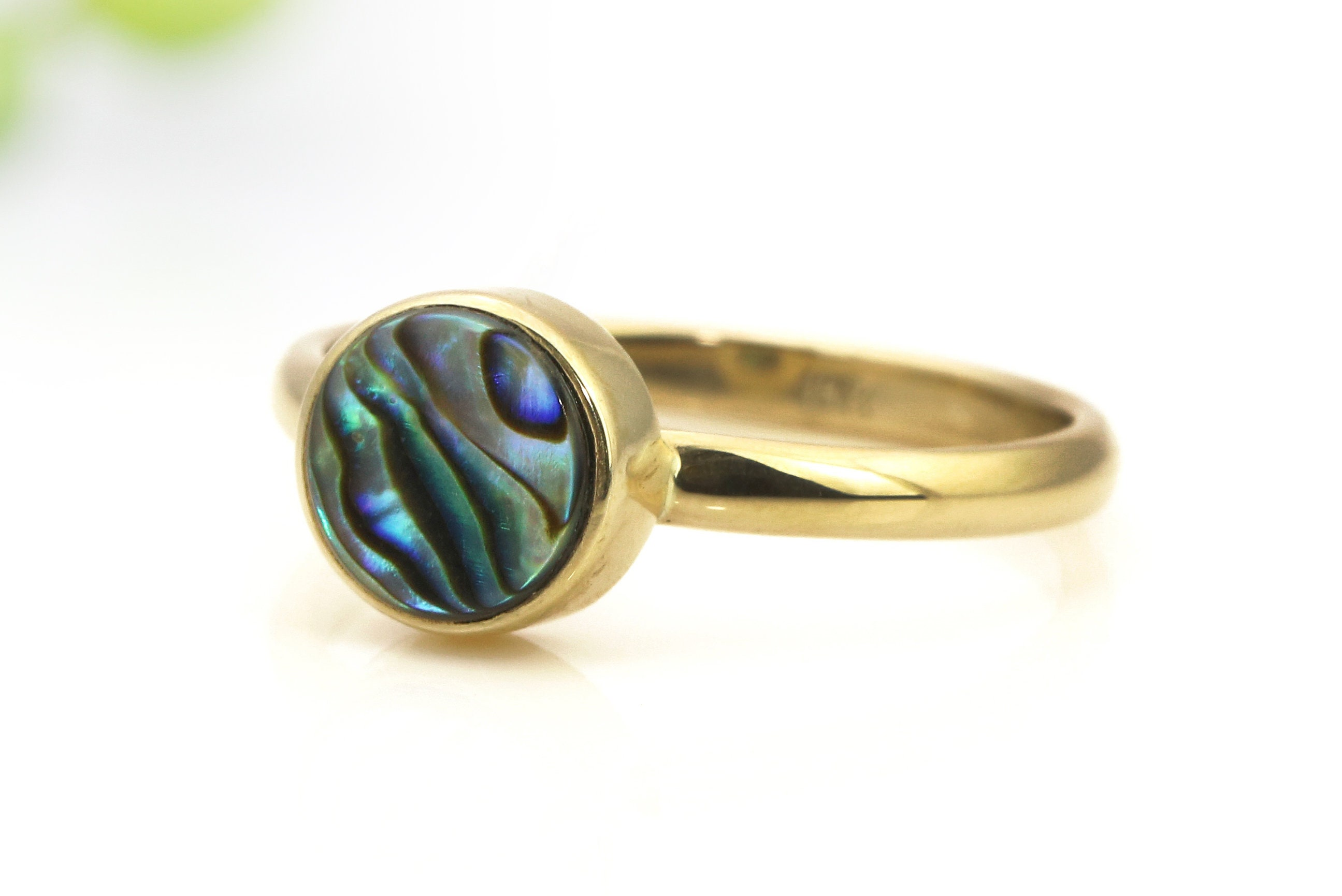 abalone koa ring inlay co wedding collections black wood ocean devocean rings