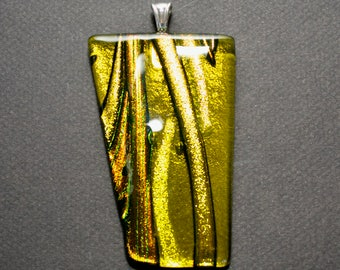 Large Dichroic Glass Pendant - Free Shipping!