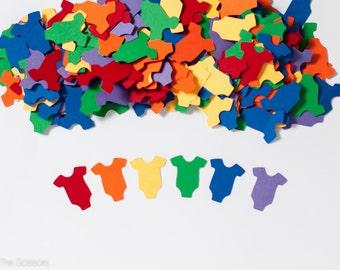 Rainbow Baby Shower - Rainbow Confetti - Baby Shower Decoration - OnePiece Confetti