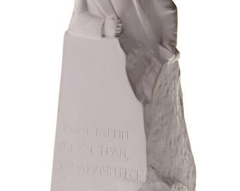 German Philosopher / Socialist Karl Marx Marble Statue / Bust 15cm (5.9'') white
