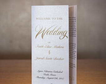 Wedding Program | Trifold