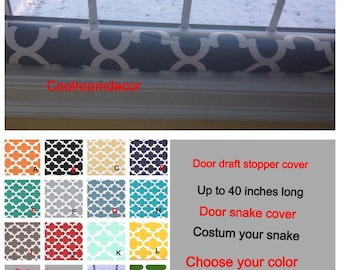 DOOR Draft blocker- door snake- Draft dodger- SNAKE COVER, Door draft excluder-Breezer Blocker-up to 40 inches long, -Draft Stopper cover