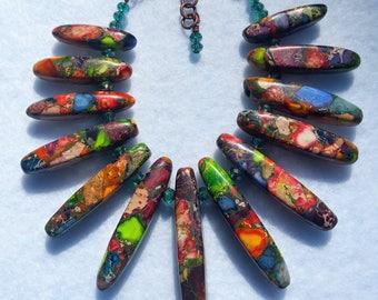 Jasper Stick Cuff Bracelet
