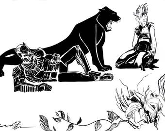 Black Panther and Storm in Love