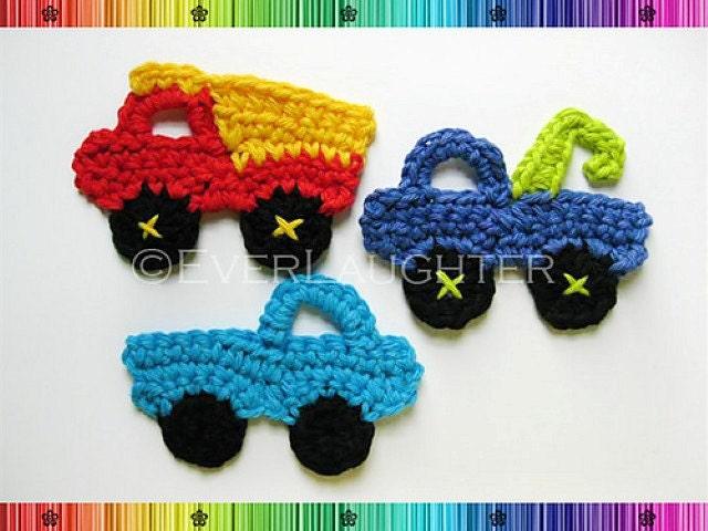 Amigurumi Patterns Cars : Truck dump truck tow truck applique crochet pattern pdf from