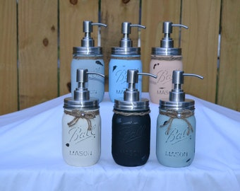 Rustic Mason Jar Soap/Lotion Pump