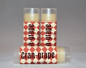 Cran-Grape - Lip Balm - Cranberry Grape - Lip Balm - Flavored Lip Butter - Bath and Beauty