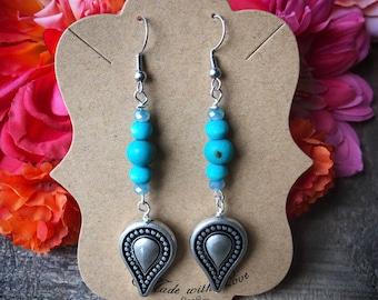 Acai Seed Earrings, Acai Earrings, Cowgirl Jewelry, Country Jewelry, Western Earrings, Boho Earrings, Turqouise Earrings, Dangle Earrings