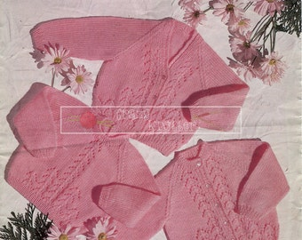 """Baby Cardigans and Sweater DK 18-24"""" Bronte 680 Vintage Knitting Pattern PDF instant download"""