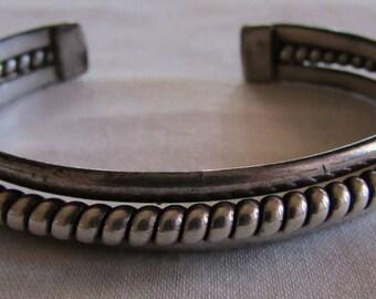Navajo Tahe Sterling Silver Cuff Bracelet