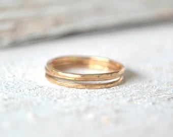 Gold Stacking Rings. Dainty Stacking Ring, Ring Stackers, Stacking Ring Gold, Gold Ring Stacking, Set Of Stacking Rings, Minimalist Ring