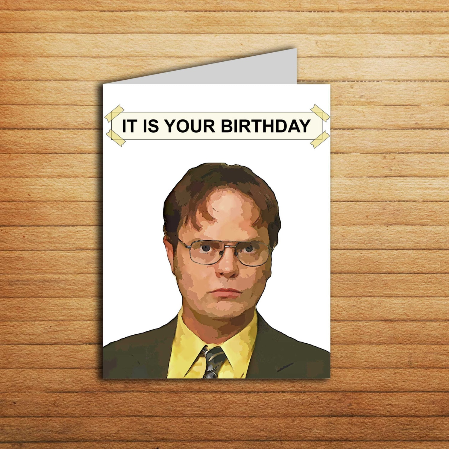 The office birthday card office tv show cards printable it is the office birthday card office tv show cards printable it is your birthday gift for coworker funny dwight schrute michael scott jim halpert bookmarktalkfo Image collections