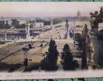 Vintage Color Postcard - 1900 - Paris