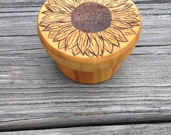 Sunflower Trinket Box