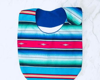 Serape Cotton Print Bib, Mexican blanket, Toddler bibs
