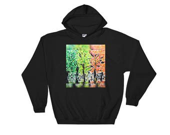 Seasons Trees Hooded Sweatshirt