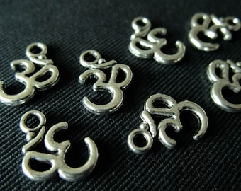 BULK (pkg/30) Small Ohm Charm - for pendants, jewelry making, crafts, scrapbooking