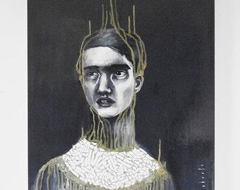 Original Labaste's painting - acrylic on wood