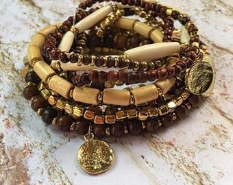 Boho bracelets/gypsy bracelets/hippie bracelets/beaded bracelets/stackable bracelets/bohemian jewelry/bohemian bracelets