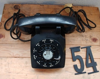1950s Antique Western Electric Bell System Rotary Dial Telephone, Vintage Model 500 Phone, Black, Movie/Play Prop, Retro Phone